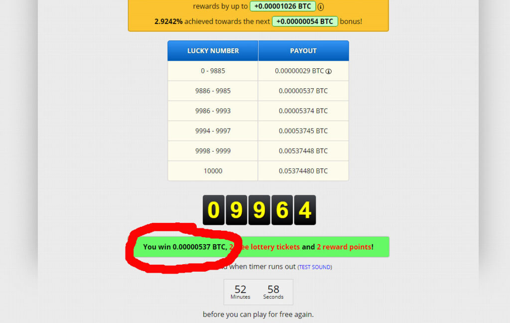 Win free Bitcoins